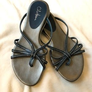 Cole Haan Blue and Silver Strappy Sandals Size 5